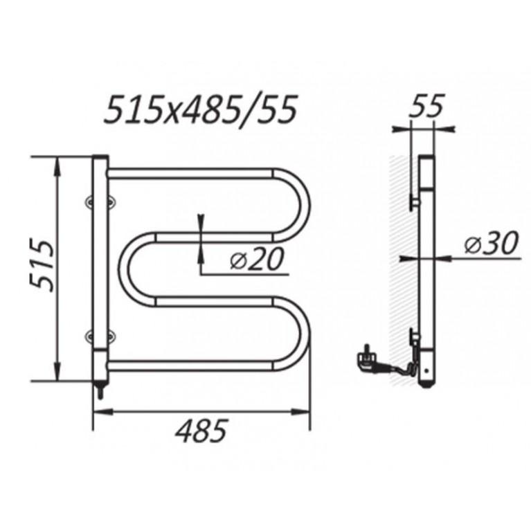 Elektryczny Grzejnik Łazienkowy Lasso 0,5 HP-I