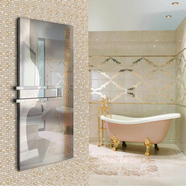Dekoracyjny grzejnik łazienkowy pionowy