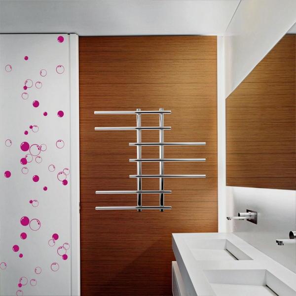 Dekoracyjny grzejnik łazienkowy ze stali nierdzewnej